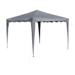 Gartenpavillon / Faltpavillon Alu/Metall 3x3 Meter grau