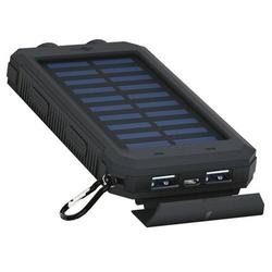 Outdoor Powerbank 8000mAh mit Solarpanel und Taschenlampenfunktion