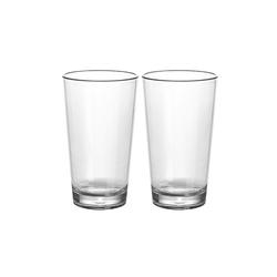 GIMEX Latte-Macchiato-Glas 2 x Latte Macciato Glas aus bruchfestem Polycarbonat - 350ml - Kunststoffgläser, Kunststoff