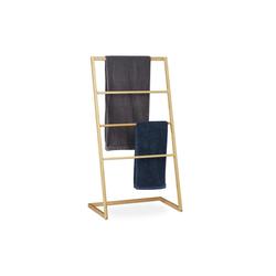 relaxdays Handtuchhalter Handtuchhalter stehend aus Bambus