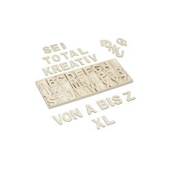 relaxdays Deko-Buchstaben XL Holzbuchstaben Set 104 tlg.