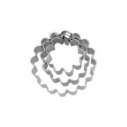 """STÄDTER Ausstechform 3-tlg. Ausstecher Set """"Ring"""", ca. 3 / 4 / 5 cm,"""