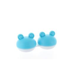 Kontaktlinsenbehälter Frosch hellblau