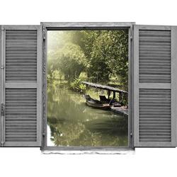 Wandtattoo »Asiatischer Dschungel mi« (1 Stück), Wandtattoos, 10694049-0 grün 80x0,1x60 cm grün