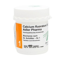 Calcium fluoratum D12 T Adler Pharma Biochemie nach Dr. Schüßler Nr.1, Tablette