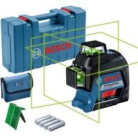 Bosch Professional Linienlaser GLL 3-80 G Grün & inkl. Zubehör & Koffer