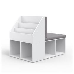 Vicco Standregal Kinderregal ONIX mit Sitzbank Kindersitzbank Spielzeug Kinderzimmerregal