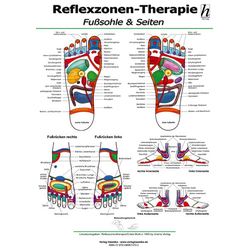 Reflexzonen-Therapie Mini-Poster - Fußsohle & Seiten DIN A4