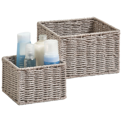 Zeller Present Aufbewahrungskorb Aufbewahrungskörbchen, (Set, 2 St.), ideal fürs Bad, Wohnzimmer oder Büro grau Ablagen Aufbewahrung Bad-Accessoires Bad Sanitär