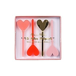 Acrylic Heart Cake Toppers  12 Stück