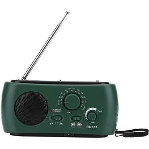 Alomejor Solar Radio Solar Notfall Wetter Radio Dynamo Handkurbel Selbstbetrieben AM FM WB Radios mit LED Taschenlampe für Outdoor Survival