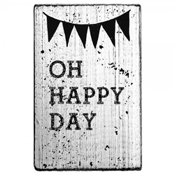 """Vintage Stempel """"Oh happy day"""""""