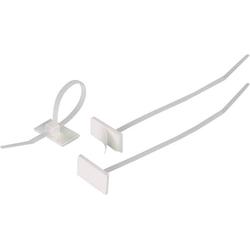 HellermannTyton 148-00001 T18RSA-PA66-NA-C1 Kabelbinder 100mm 2.50mm Natur mit Klebesockel