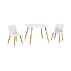 roba® Kindersitzgruppe Kindersitzgruppe, weiß/natur, 3-tlg. weiß
