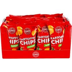 Clarky's Paprika Chips 200 g, 20er Pack