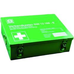 GRAMM medical Betriebsverbandkasten MAXI, Aus hochwertigem Stahlblech, staubdicht, Verbandkasten, Inhalt nach DIN 13 169