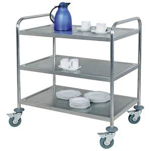 Servierwagen, (10 St), 3 Etagen, Edelstahl