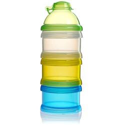 reer Milchpulver-Portionierer, 3er Set, Praktischer Milchpulveraufbewahrer ideal für Unterwegs, farbig sortiert