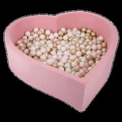 Bällebad Herz 138x128x40cm Pink