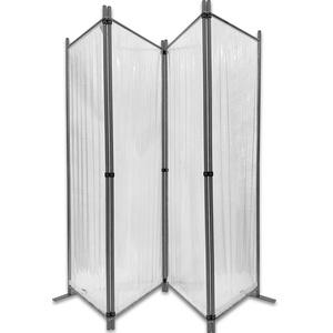 Paravent 225x170cm - 4tlg. transparent -  Paravent Raumteiler Trennwand