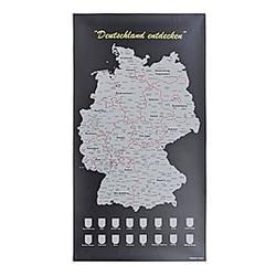 Deutschlandkarte Scratch die BRD