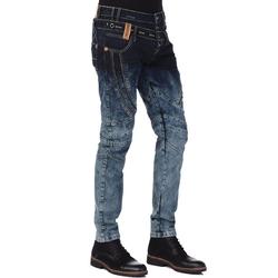 Cipo & Baxx Bequeme Jeans mit stylischem Doppelbund 34