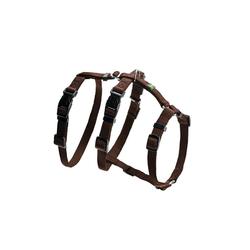 Hunter Hunde-Geschirr Panikgeschirr Vario Rapid, Nylon braun 64 cm - 100 cm
