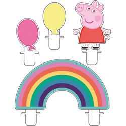 Amscan Formkerze Mini-Figurenkerzen Peppa Pig, 4 Stück