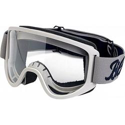 Biltwell Moto 2.0 Crossbrille Herren - Weiß/Grau Klar - one size