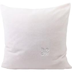 Gözze Dekokissen Fleur de Lys, veredelt durch eine exklusive Stickerei weiß