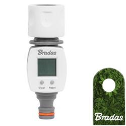Digitaler Gartenwasserzähler Zähler mit LCD Schnellkupplung + Adapter Wasserzähler WHITE LINE WL-3100 Bradas 1764