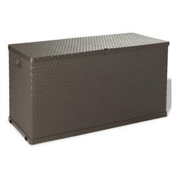 vidaXL Gartenbox vidaXL Auflagenbox 420L Kissenbox Gartenbox Gartentruhe Kiste Braun braun