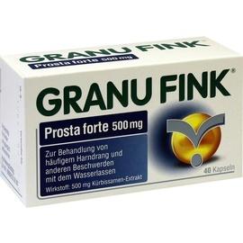 Omega Pharma Deutschland GmbH GRANU FINK Prosta forte 500 mg Hartkapseln 40 St