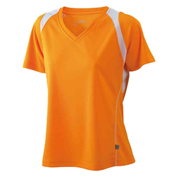 Damen Laufshirt orange/weiß