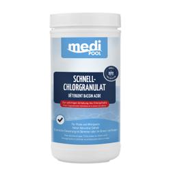 mediPOOL Schnell-Chlorgranulat, Granulat zur sofortigen Anhebung des Chlorgehalts, 1000 g - Dose