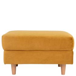 Gelber Sitzhocker aus Samt rechteckig