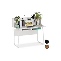 relaxdays Schreibtisch Schreibtisch mit Ablagefächern
