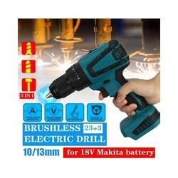 Drillpro - Tournevis électrique sans balai rechargeable 18V 3IN1 13mm pour outils électriques