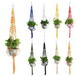 Masbekte Dekohänger, Blumenampel Blumentopf Pflanzen Wohnkultur Topfpflanzgefäß, Höhe ca. 105cm weiß