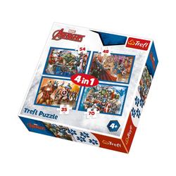 Trefl Puzzle 4in1 Puzzle 35/48/54/70 Teile - Marvel The, Puzzleteile