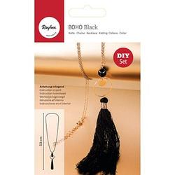 Rayher Schmuck-Basteln-Set Halskette Boho schwarz