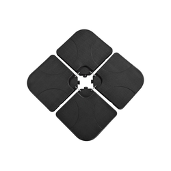 Yaheetech Schirmständer, Sonnenschirmständer 4-teilig Ampelschirmständer Schirmgewicht Bodenkreuz befüllbar mit Wasser oder Sand, Schwarz