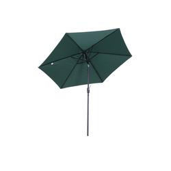 Outsunny Sonnenschirm Sonnenschirm mit Handkurbel grün