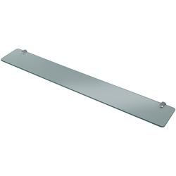 WELLTIME Wandablage Glasregal/ Glasablage, Breite 80 cm grau