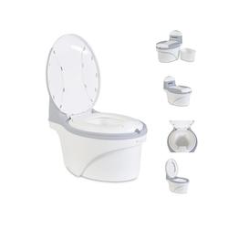 Cangaroo Töpfchen Töpfchen Grow-up, Behälter abnehmbar, anatomischer Sitz, hochwertiger ungiftiger Kunststoff grau