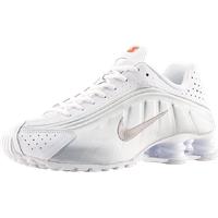 Nike Men's Shox R4 white/metallic silver/bright crimson/metallic silver 41