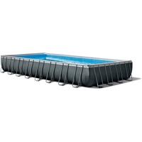 Intex 26374 Aufstellpool Gerahmter Pool Rechteckig 54368 l Schwarz