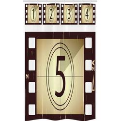 Abakuhaus Duschvorhang Badezimmer Deko Set aus Stoff mit Haken Breite 120 cm, Höhe 180 cm, Kino Zerkratzt Frames