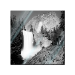 Bilderdepot24 Glasbild, Glasbild - Wasserfall III 50 cm x 50 cm