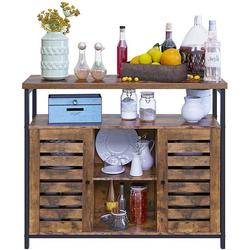 VASAGLE Sideboard LSC79BX, Beistellschrank, Küchenschrank, vintage